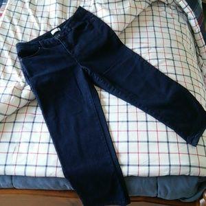 Crop Dark Denim Jeans